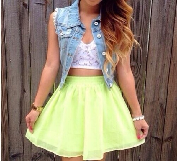 skirt neon weheartit instagram tumblr tumblr girl cute girly