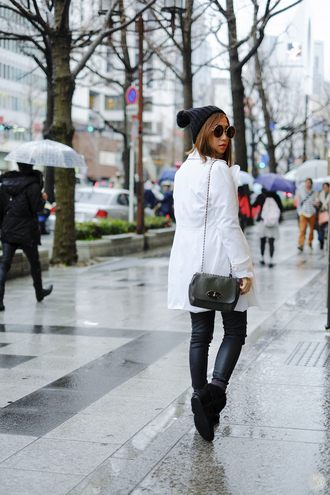 kryzuy blogger sweater pants shoes bag white coat mulberry