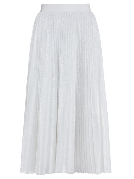 MSGM Skirt With Sequins in white