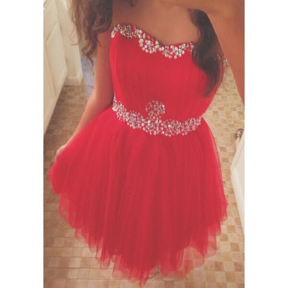 dress red dress red prom dress clothes party dresses