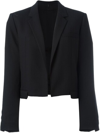 blazer cropped black jacket