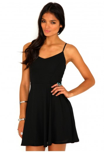 Paula Caged Back Skater Dress - Dresses - Missguided