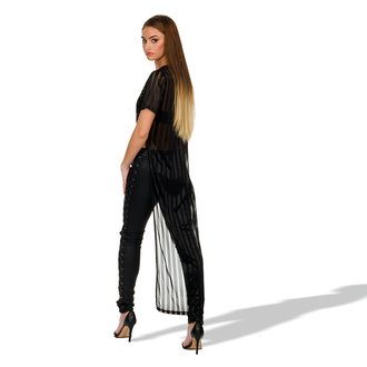 t-shirt oversized t-shirt slit side vertical stripe stripped maxi top dress slinky instagram blogger manieredevoir stylist fashion black noir t shirt print minimalist