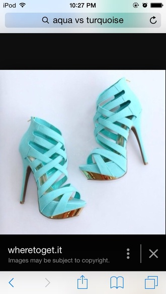 shoes teal heals heels shoe peep toe sandal heels