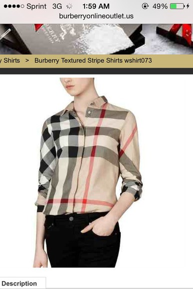 blouse burberry
