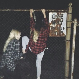 blouse shirt tumblr gruge flannel flannel shirt oversized flannel top grunge t-shirt 90s grunge