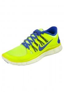 Bestellung Original Nike Performance Free 5.0  Herren Laufschuh Leichtigkeit Neongelb BlauOnline