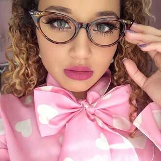 make-up jadah doll eye makeup glasses cat eye pink top jadah doll makeup jadah doll nails