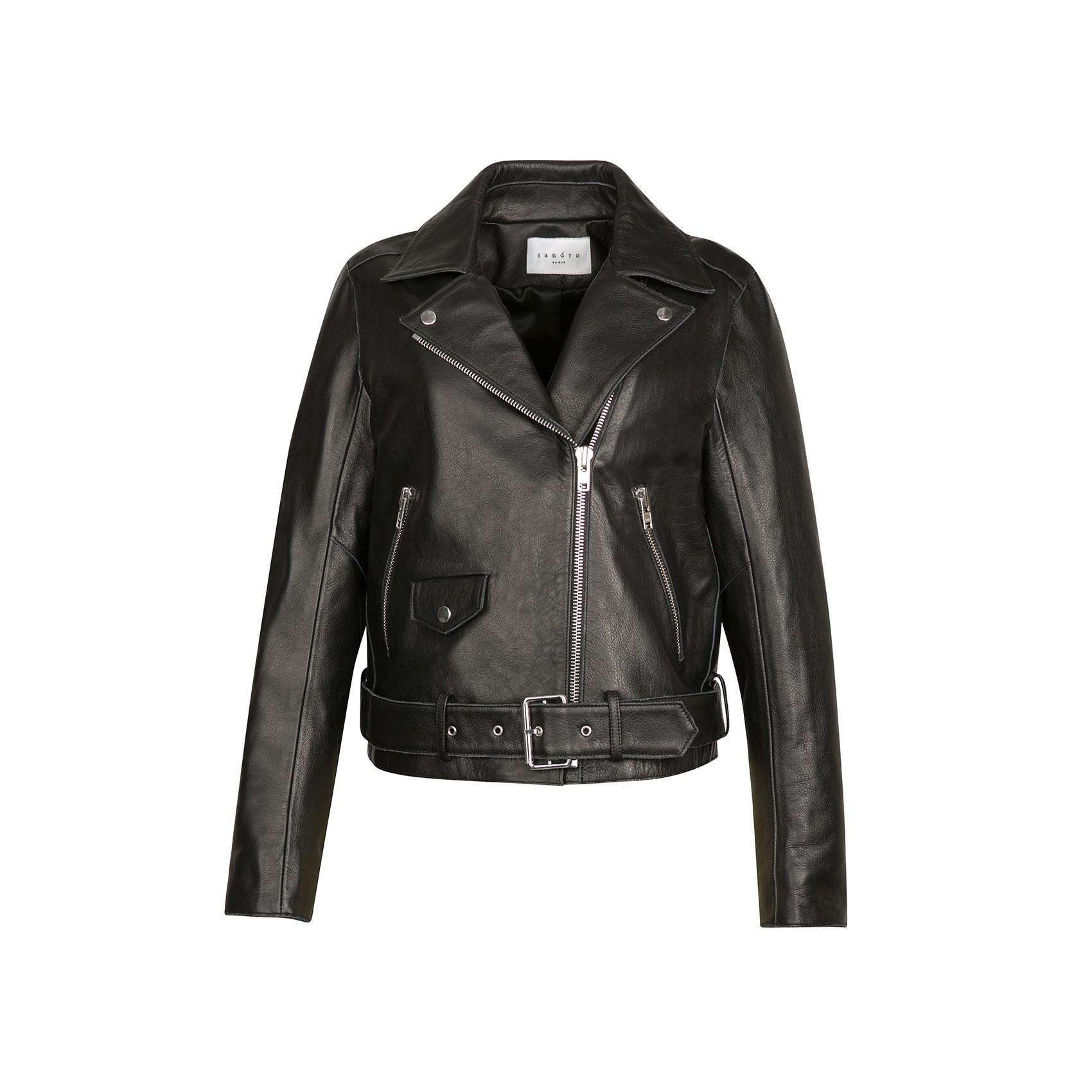 Sandro veine asymmetrical biker jacket at sandro us