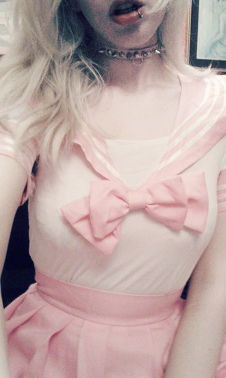 dress kawaii dress lolita gothic lolita kawaii pink collar sexy cute japan