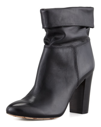 VC Signature | Taresa Slouchy Leather Bootie, Black - CUSP