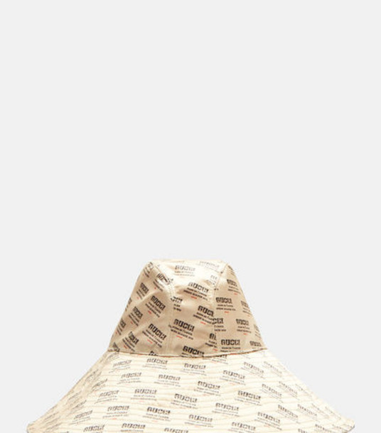 Gucci Invite Print Wide Brim Bucket Hat