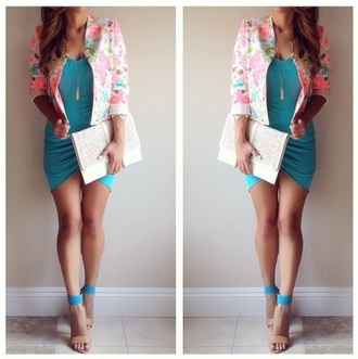 bag clothes clutch handbag purse high heels dress cardigan wallet jacket
