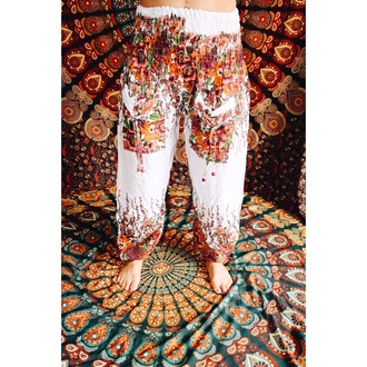 pants boho dress boho chic floral dress flowered shorts gypsy hippie style fashion