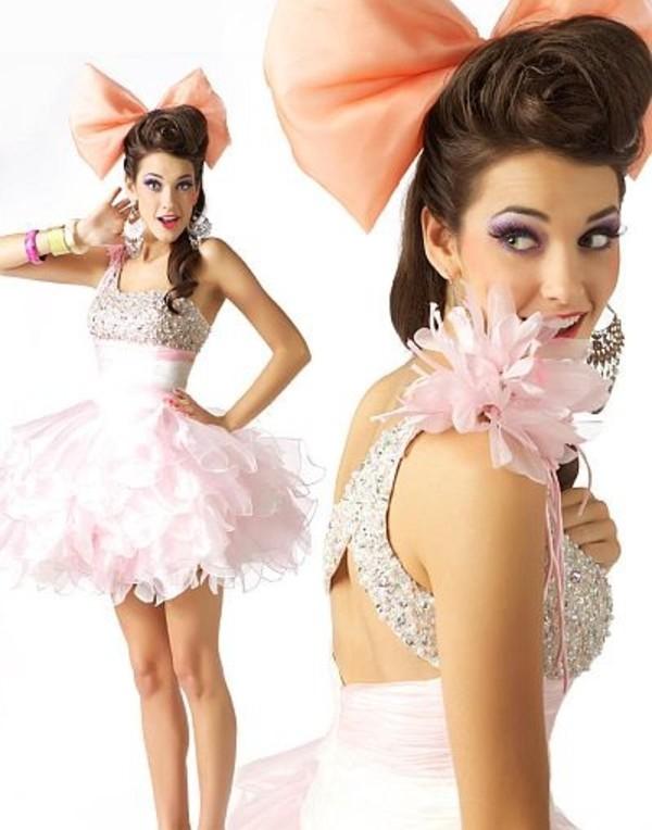 dress prom pink sparkle