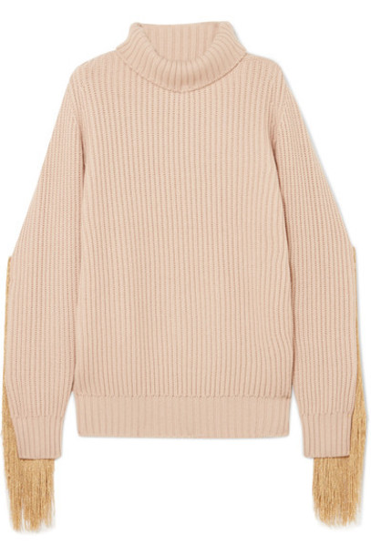 Hillier Bartley sweater turtleneck turtleneck sweater knit beige