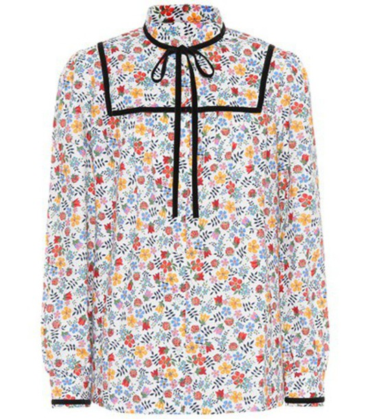 A.P.C. top floral cotton
