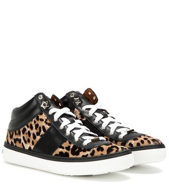 hair sneakers leather shoes