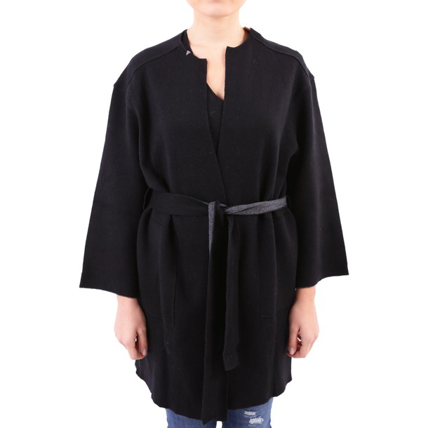 Sun 68 jacket cotton wool knit black grey