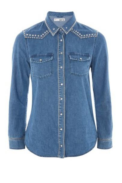 Topshop shirt studded top