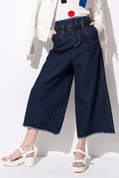 pants,denim culottes,denim