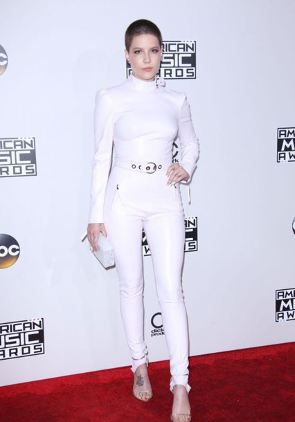 Pants Top All White Everything Halsey American Music Awards