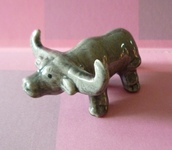 home accessory,mini buffalo,buffalo,animal statue,miniature,dollhouse,fairy garden,animal,farmhouse,farm animal,mini animal,miniature buffalo,animal ceramic