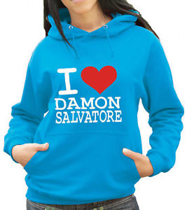 I Love Damon Salvatore - Vampire Diaries Hoody (1069) | eBay