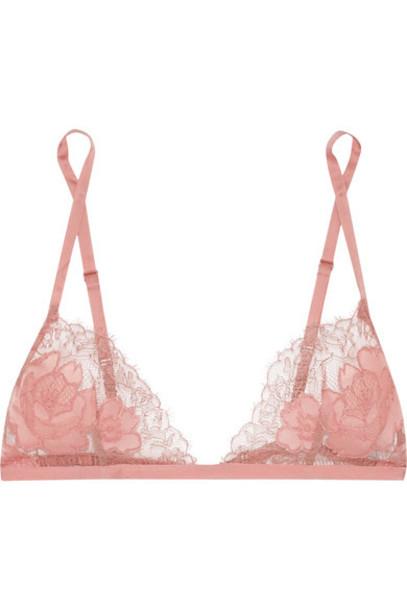 bra rose soft lace silk satin underwear
