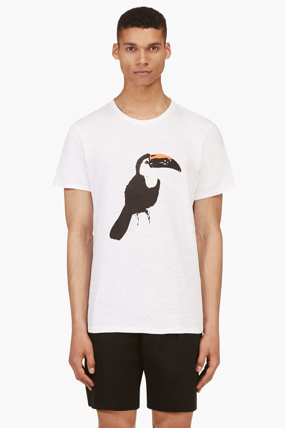 Rag and bone white toucan graphic t shirt for Rag and bone white t shirt