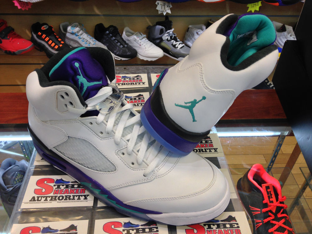 "DS Nike Air Jordan 5 Retro ""Grapes"" 1360247 108 Thesneaker Authority 
