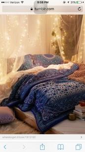 home accessory,boho,bedding,blue