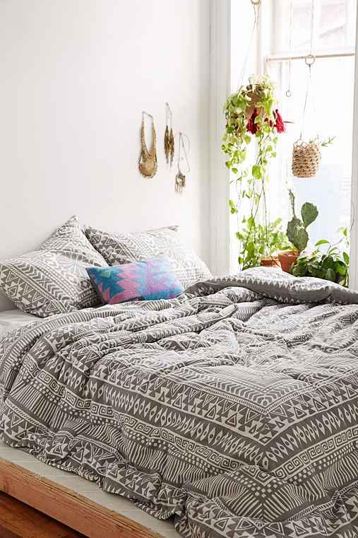 Magical Thinking Printed Woodblock Comforter Urban