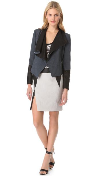 Jacket helmut lang jacket helmut lang perma jacket helmut lang perma jacquard jacket leather Celebrity style fashion boutique