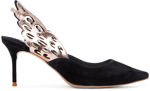 heels suede black shoes
