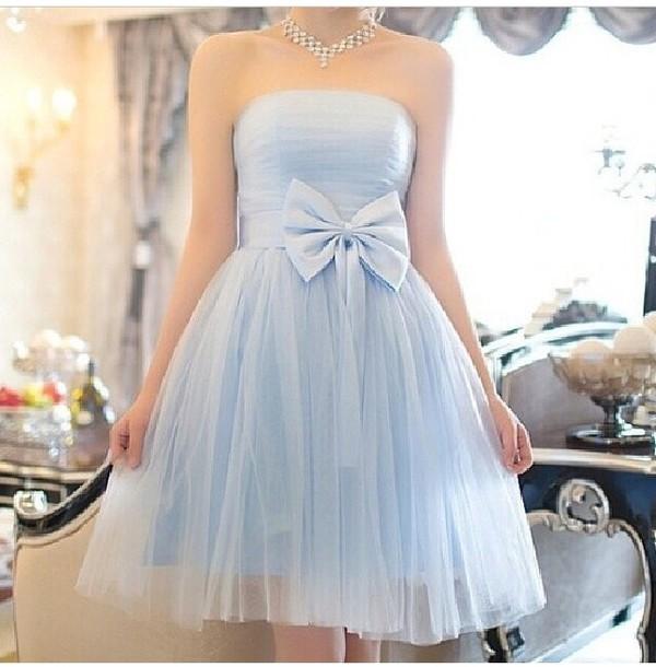 dress dess light blue