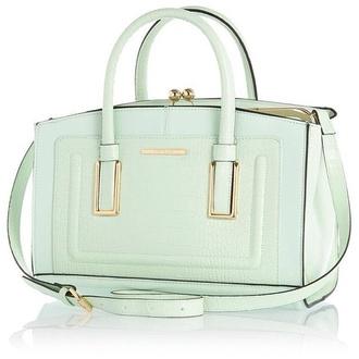 bag mint light green light green bag river island river island bag handbag pastel bag