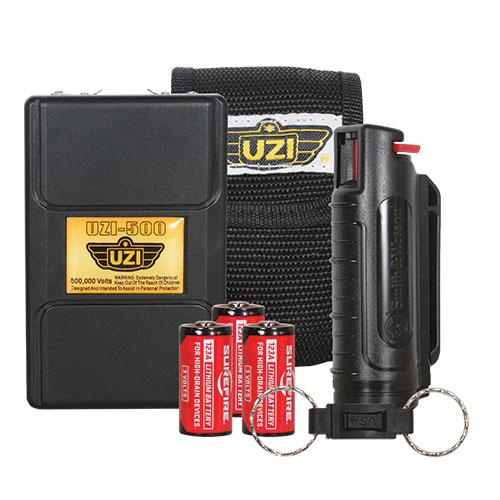 UZI Personal Protection Combo Pack Stun Gun and Pepper Spray Item 12-25