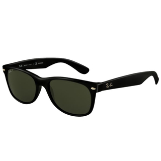ray ban black wayfarer sunglasses  Ban Unisex RB2132 Black Wayfarer Sunglasses