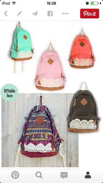 bag lace bag lace dress backpack