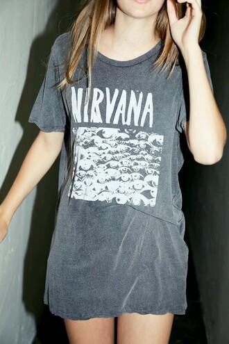 t-shirt grunge t-shirt grunge nirvana t-shirt tshirt. indie grunge top soft grunge nirvanashirt