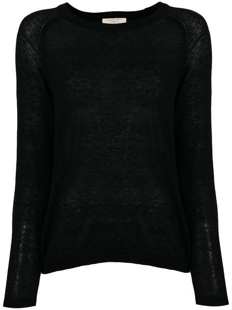 Diega jumper women black wool sweater