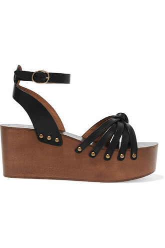 shoes leather sandals isabel marant