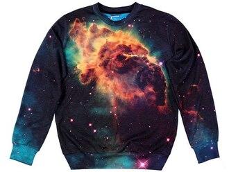 printed universe sweater sweatshirt print space space print stars streetwear crewneck streetstyle