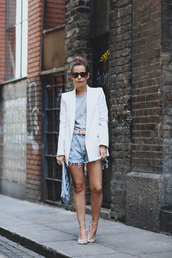 collage vintage,jacket,t-shirt,shorts,bag,shoes,belt,blazer,white,white jacket,denim,style