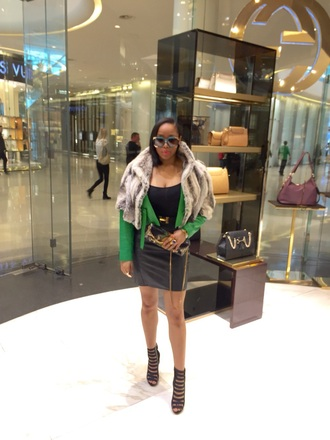 shoes gucci prada ysl clutch luxury green leather jacket leather skirt ted lapidus hermes saint laurent alexander mcqueen gucci bag streetstyle streetwear fashion fur fur coat bomber jacket white and bkack balenciaga