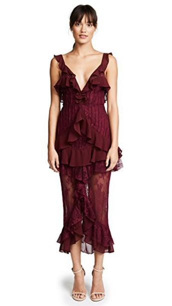 For Love & Lemons dress lace dress lace