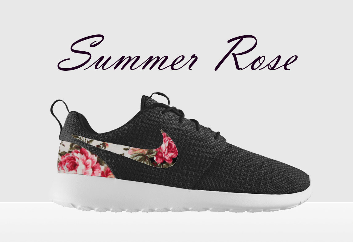 floral nike roshe run black and white nike floral roshe