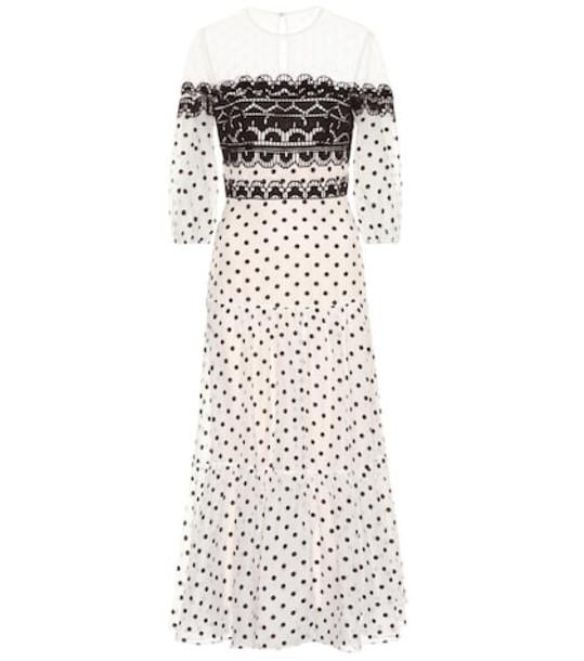 Temperley London Prix midi dress in white