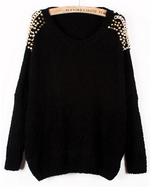 Neck knitted loose sweater